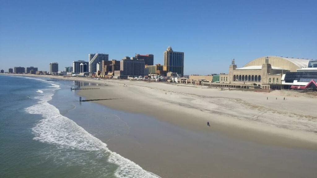 beach, buildings