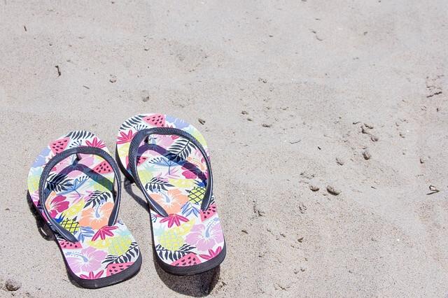 flip flops, sandal, beach vacation, summer
