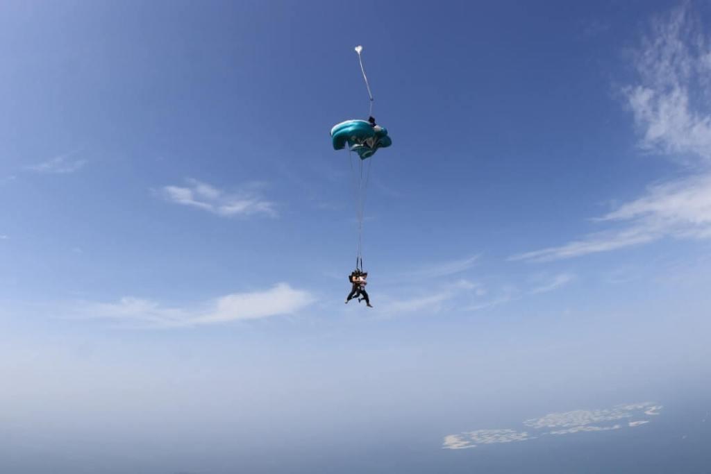 sky, flight, skydiving
