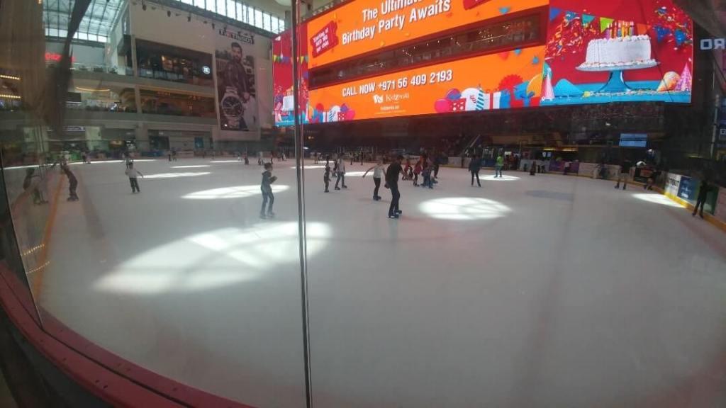 Skating rink, skating