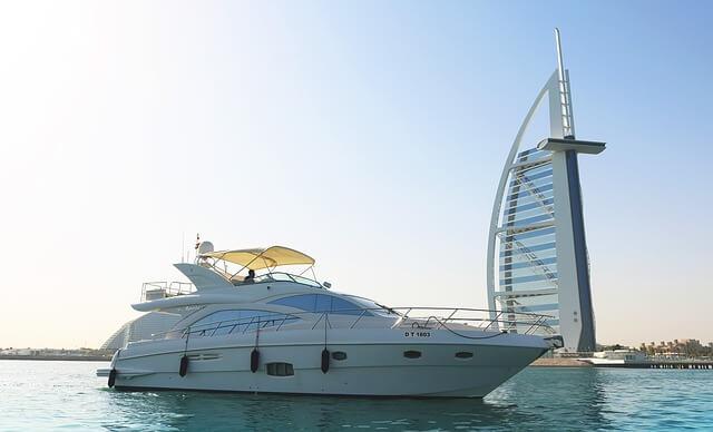 Burj Al Arab, boat, Dubai