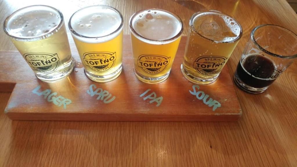 Tofino Brewing Company, beer, flight