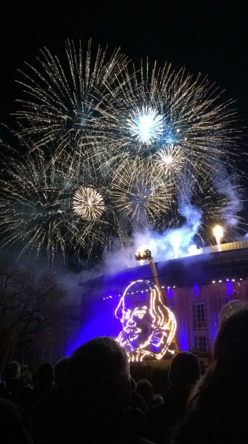 Shakespeare 400 fireworks.