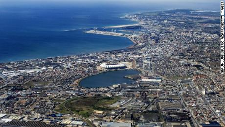 An aerial view of Port Elizabeth, which has been renamed.