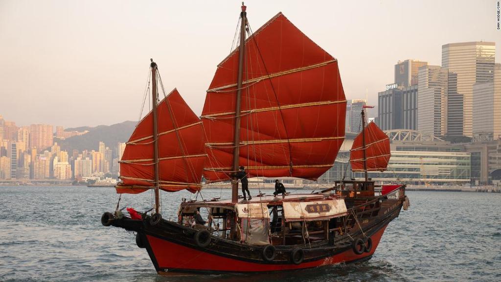 The last of Hong Kong's original wooden junk boats is still afloat