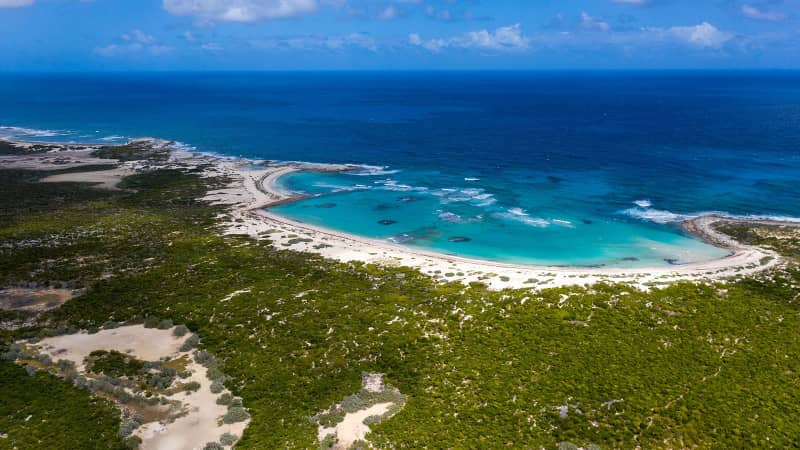 Little Ragged Island, largest private island in the Bahamas
