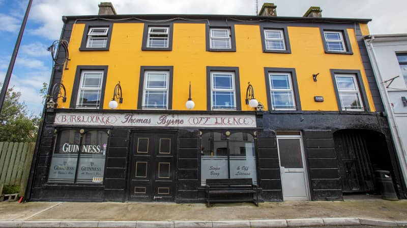 The closed Thomas Byrne bar is pictured in Dunmore on September 3, 2020.