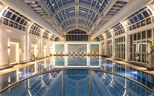 The pool at the Four Seasons Hotel Hampshire