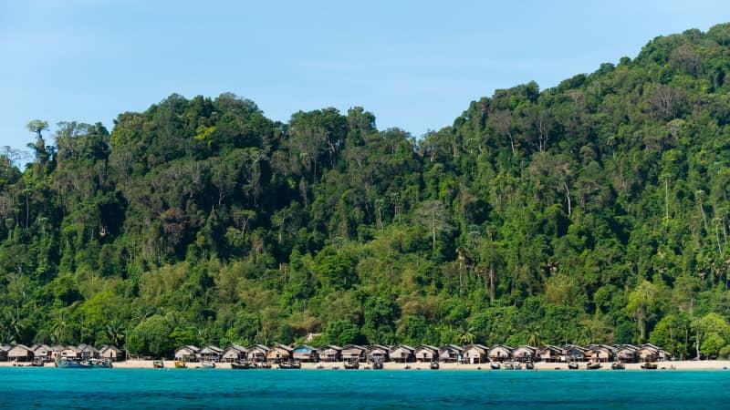 The Moken village in Southern Thailand's Mu Ko Surin National Park.