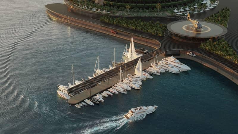 Renderings of Eco-Floating Hotel in Qatar by Hayri Atak Architectural Design Studio