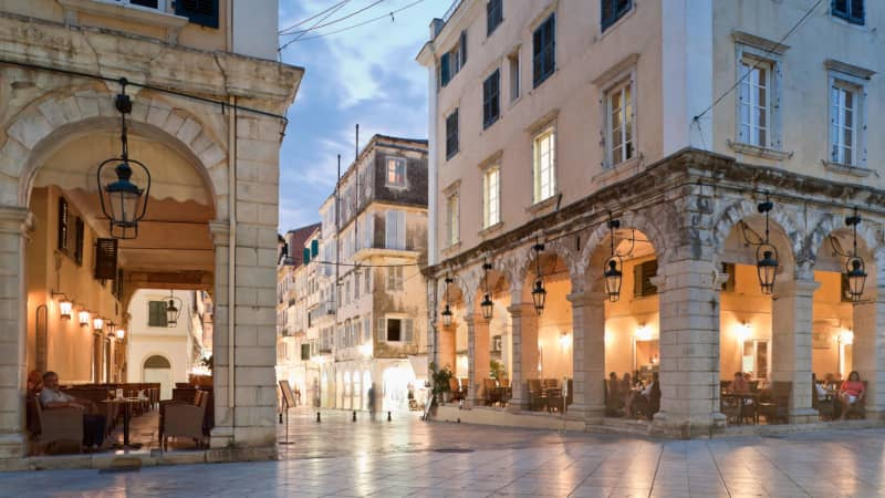 Corfu Town is one of the most elegant settlements left by the Venetians.