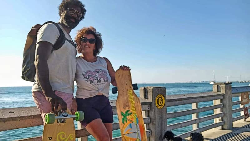 Damien Williams and Maggie Jay traded RV life for boat life in early 2020.