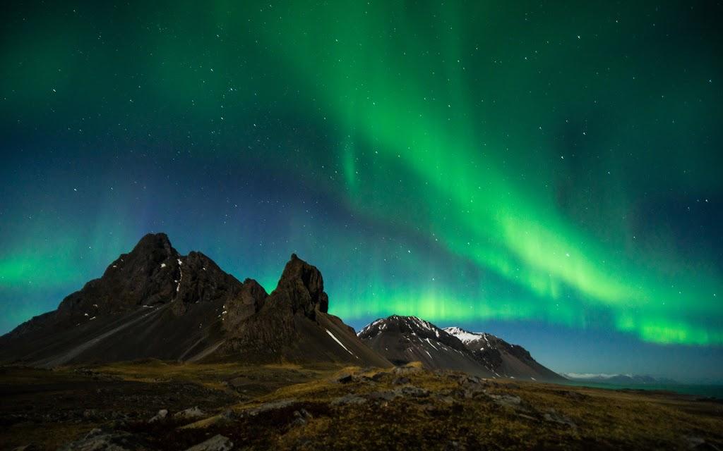 Northern lights or Aurora in Iceland