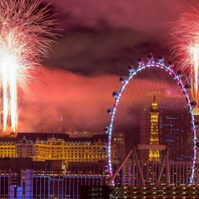 Las Vegas Celebrating 2020 New Year's Eve
