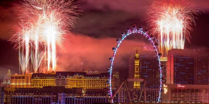 Las Vegas Celebrating 2020 New Year's Eve