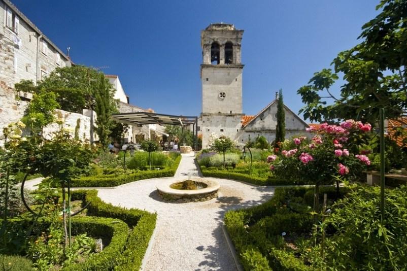 Medieval Monastery Mediterranean Garden Šibenik Croatia