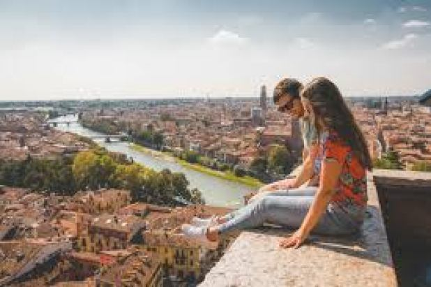 Romantic holiday destination Verona, Italy