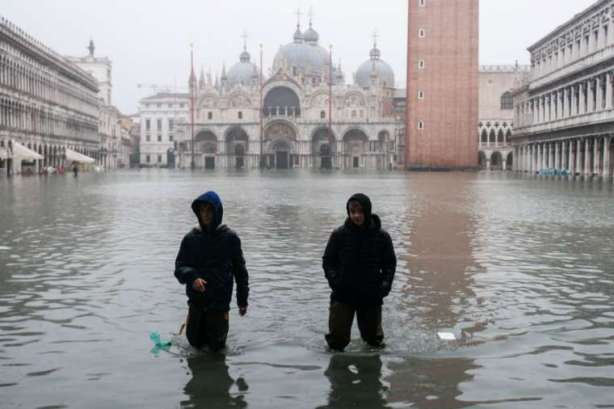 Historic Flood in Venice Damages St. Mark's Basilica Severely
