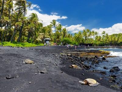 Black Sand Beaches on the Big Island