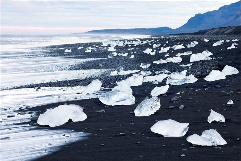 Diamond Black Sand Beach in Iceland