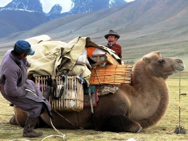 Nomadic people in Gobi