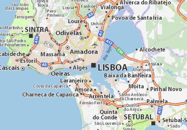 Sintra Portugal Map