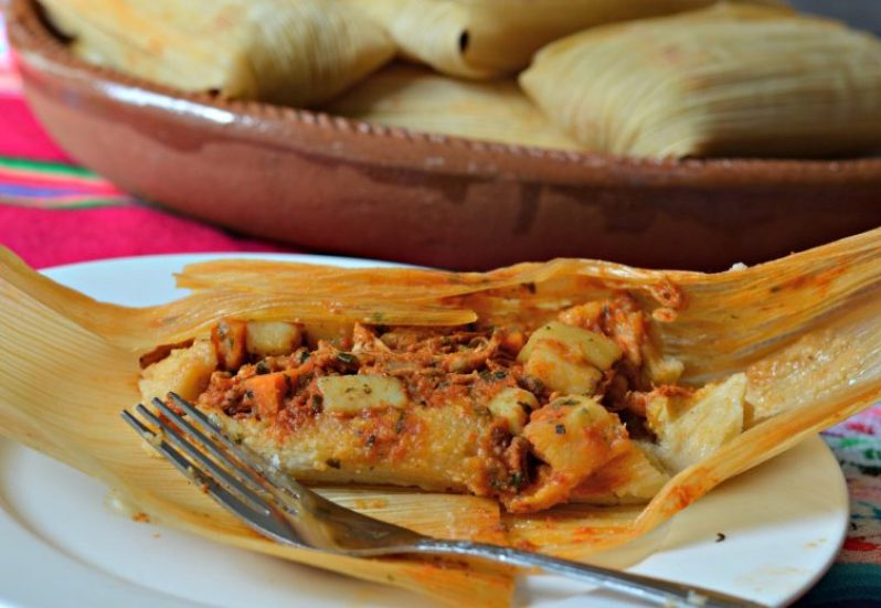 Tamales Mexican street food