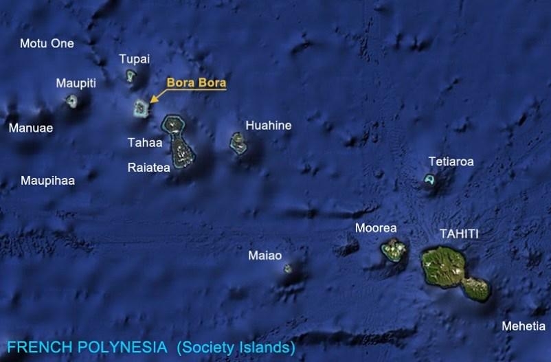 Bora Bora in Society Islands in French Polynesia