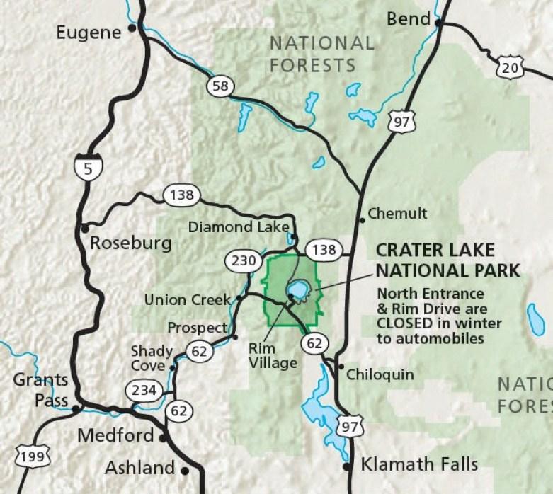Crater Lake National Park Entrance