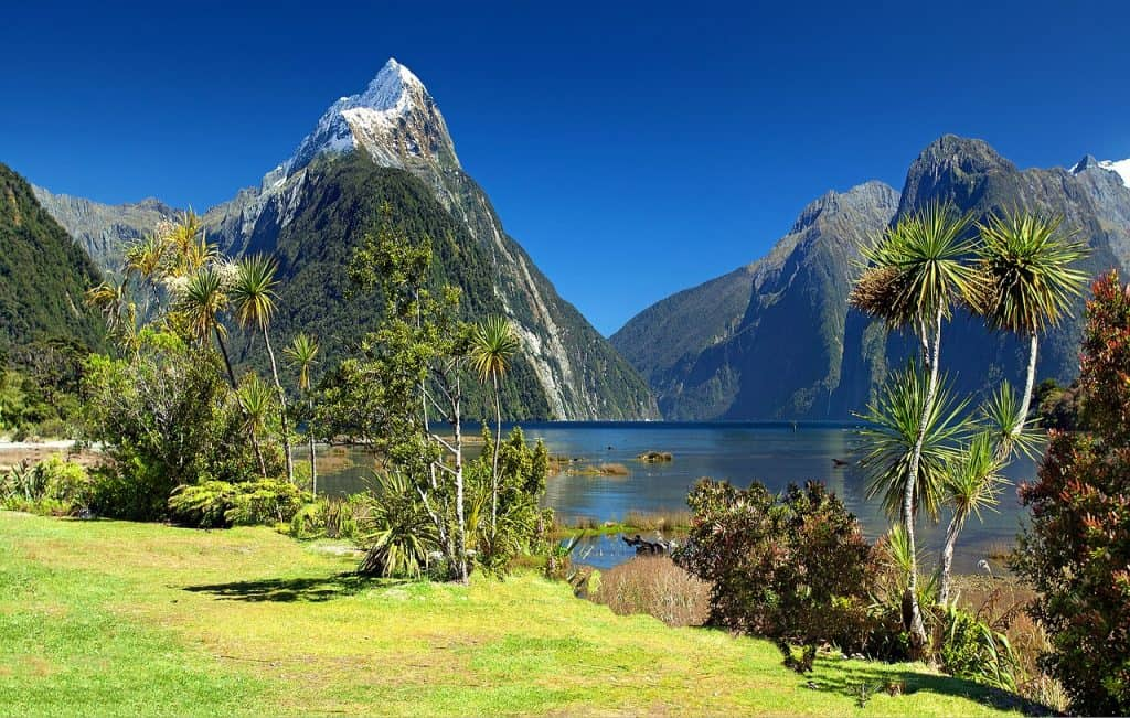 Milford Sound on Southland New Zealand