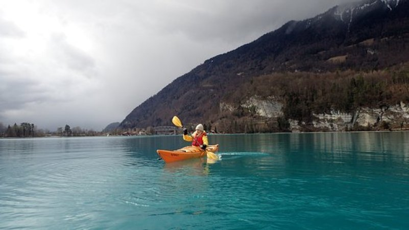 Interlaken in Switzerland Canoeing