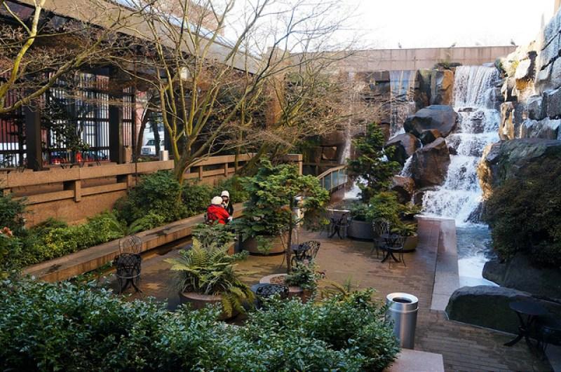Visit Waterfall Garden Park in Seattle