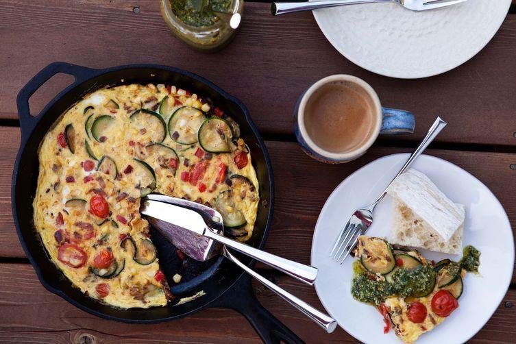 Camping Food Ideas Veggie Frittata