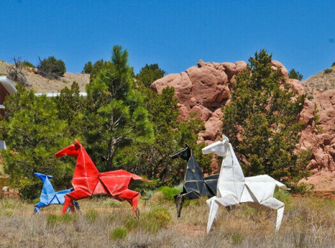 Things to Do in New Mexico Origami in the Garden