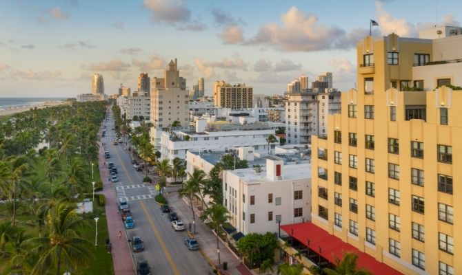 Art Deco Historic District Miami FL