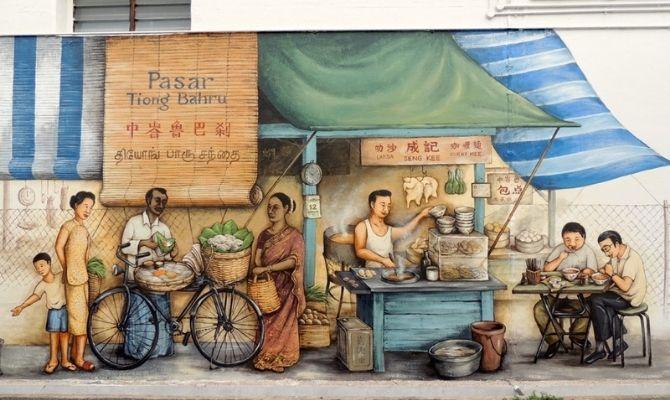 Tiong Bahru Street Art Singapore