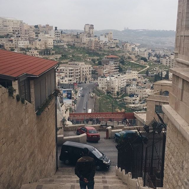 Walking down from the Church of the Nativity towards thehellip