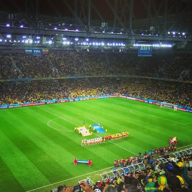 Arena da Baixada - Curitiba, Singing of national hymn Ecuador vs Honduras
