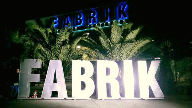 Incoming! Me and the Fabrik Sign