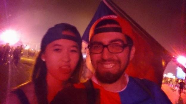 Me and my trusty hard dance raver friend, Fernando