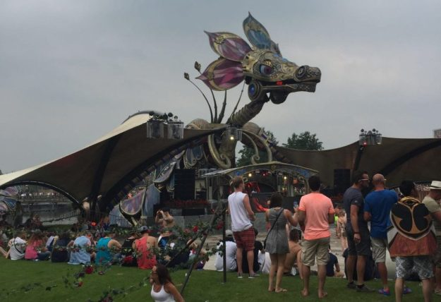 Tomorrowland Festival Review Another view of the dragon stage