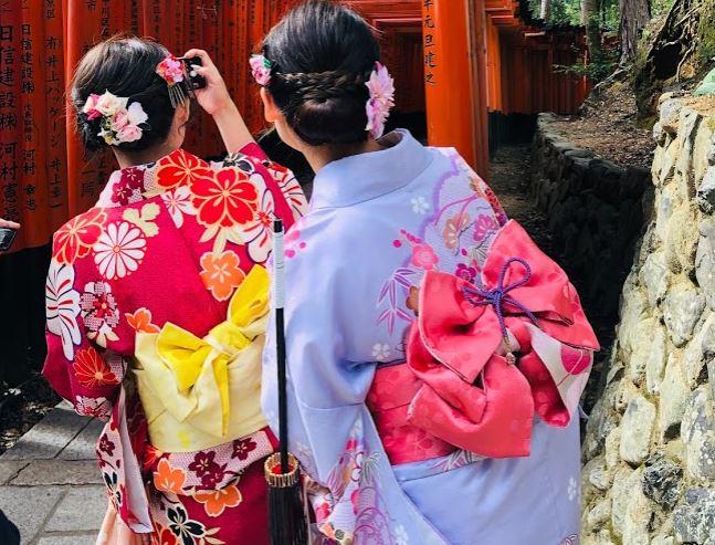 Renting a kimono in Kyoto