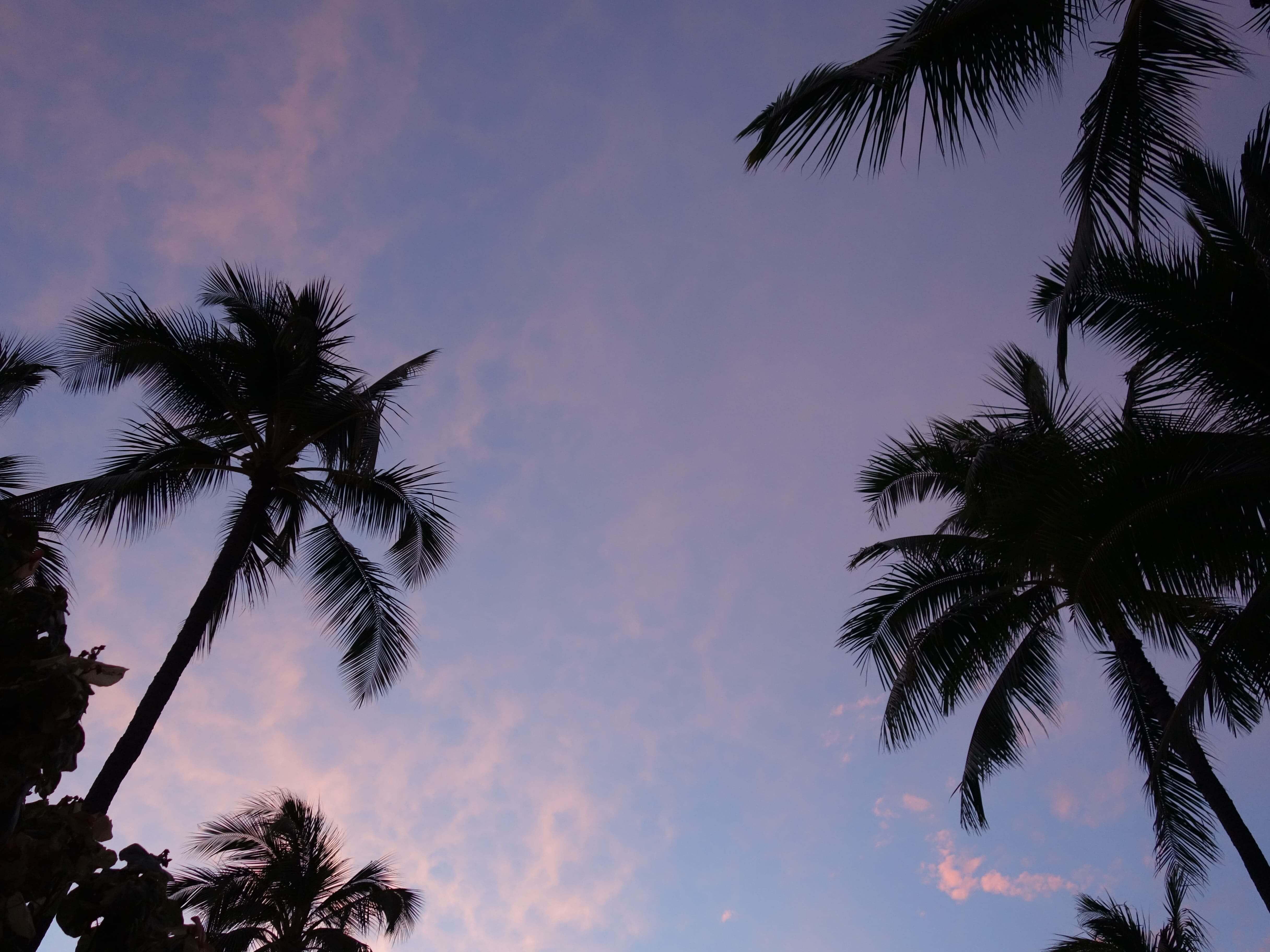 ハワイの夕焼け空