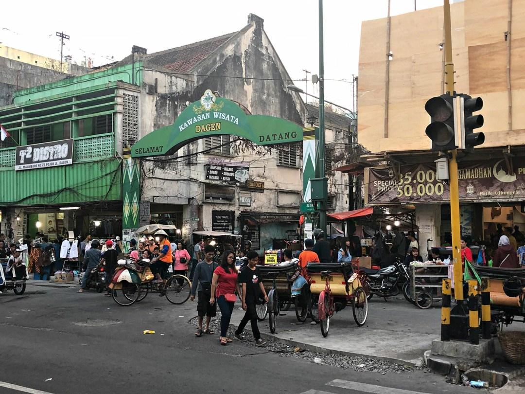 Malioboro Street in Yokyakarta