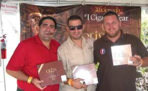 Oliva shows their special cigars for the RMCF.