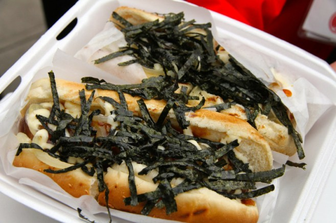 Japadog Food Truck - Sample dog Vancouver