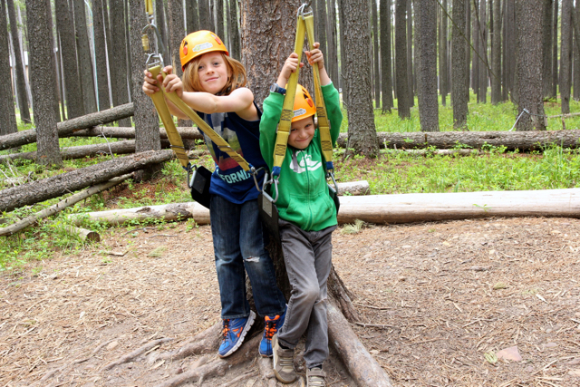 Mini zips at Cypress Hills Eco Adventure