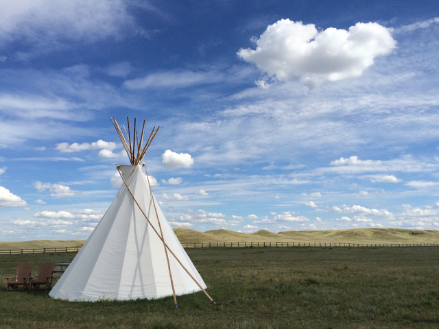 Grasslands National Park tipi