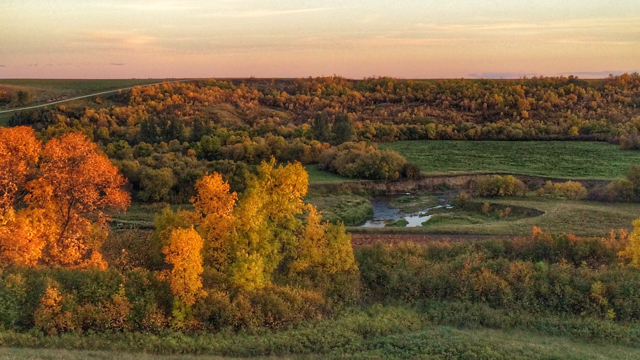 Qu'Appelle Valley in the fall