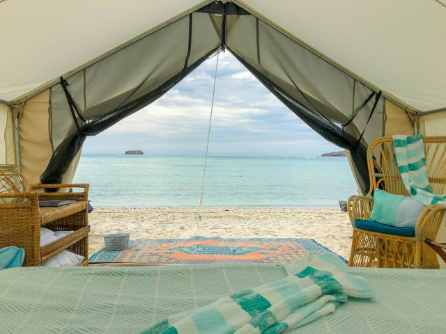 Glamping tent view Credit Jenn Smith Nelson